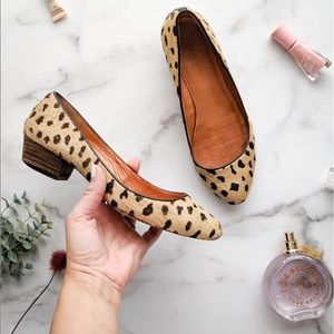 MADEWELL Flats Leopard Calf Hair Heeled